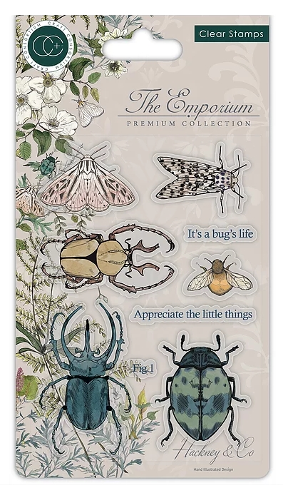 Craft Consortium THE EMPORIUM BEETLES Clear Stamps CCSTMP019 zoom image
