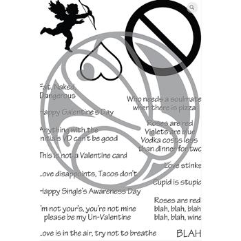 The Rabbit Hole Designs SASSY ANTI VALENTINE Clear Stamps TRH-57