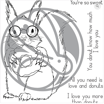The Rabbit Hole Designs MORE THAN DONUTS Clear Stamps TRH-55