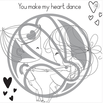 The Rabbit Hole Designs LOVE YOU MORE HEART DANCE Clear Stamps TRH-56