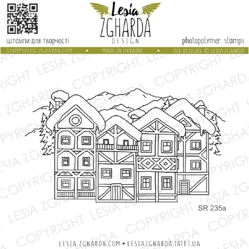 Lesia Zgharda WINTER VILLAGE Clear Stamp sr235a Preview Image