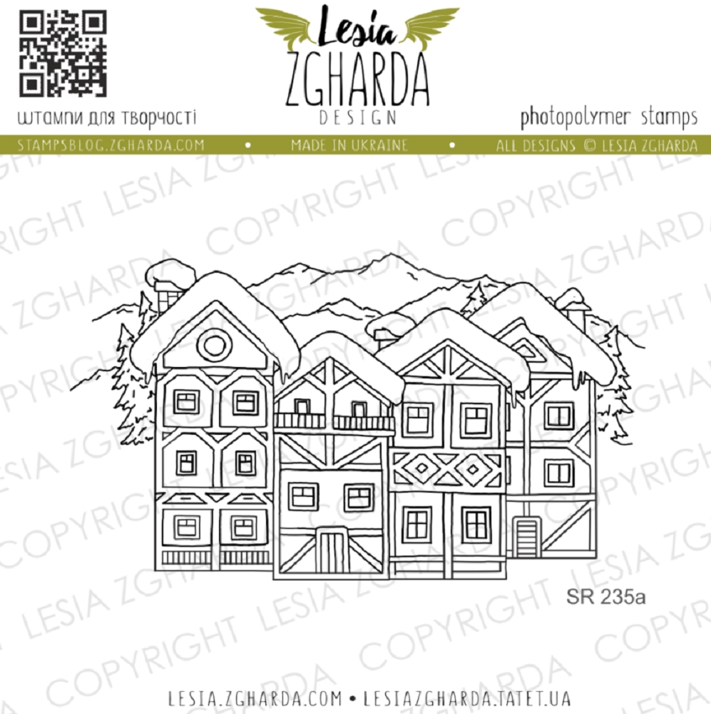 Lesia Zgharda WINTER VILLAGE Clear Stamp sr235a zoom image
