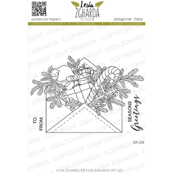 Lesia Zgharda WINTER HOLIDAY MAIL Clear Stamps sr236