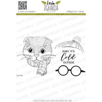 Lesia Zgharda CHRISTMAS CAT Clear Stamps fa146