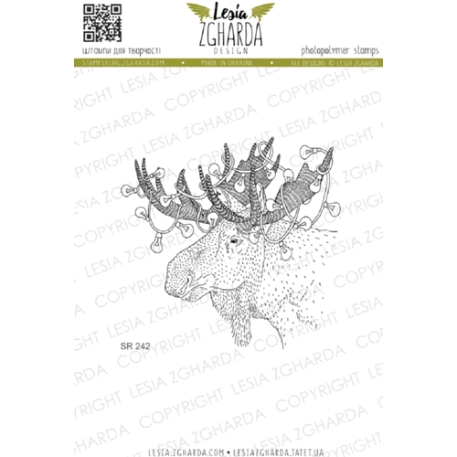Lesia Zgharda CHRISTMAS MOOSE Clear Stamp sr242 Preview Image