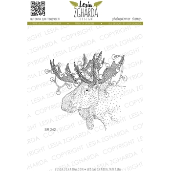 Lesia Zgharda CHRISTMAS MOOSE Clear Stamp sr242
