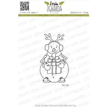 Lesia Zgharda SNOWMAN WITH GIFTS Clear Stamp sr238