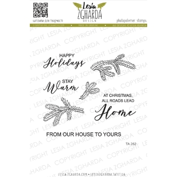 Lesia Zgharda FROM OUR HOUSE TO YOURS Clear Stamps ta262