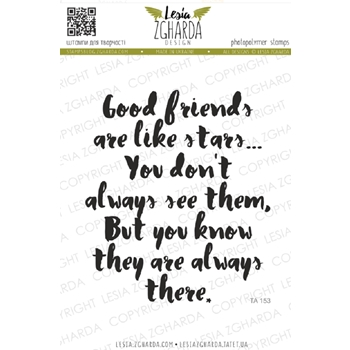 Lesia Zgharda GOOD FRIENDS Clear Stamp ta153