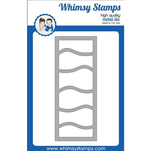 Whimsy Stamps SLIMLINES WAVES Dies WSD388 Preview Image