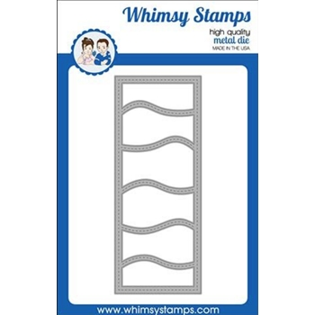 Whimsy Stamps SLIMLINES WAVES Dies WSD388