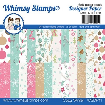 Whimsy Stamps COZY WINTER 6x6 Paper Pad WSDP11