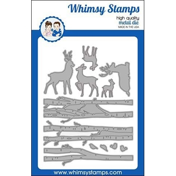Whimsy Stamps FOREST MAJESTY Dies WSD389