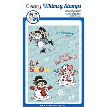 Whimsy Stamps WINTER WONDERLAND SNOWMEN Clear Stamps KHB158