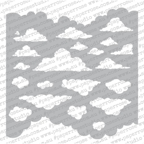 Paper Rose CLOUDS 6x6 Stencil 18400 Preview Image