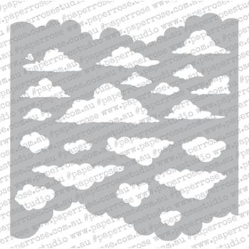 Paper Rose CLOUDS 6x6 Stencil 18400