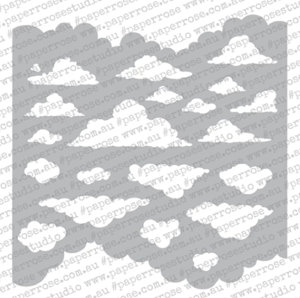 Paper Rose CLOUDS 6x6 Stencil 18400 zoom image