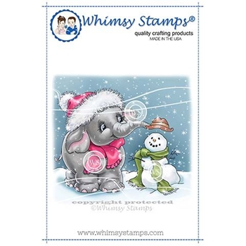 Whimsy Stamps ELLIE'S SNOWMAN Cling Stamp C1353