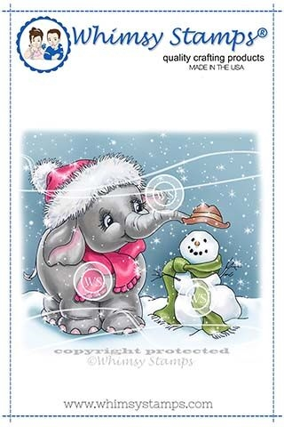 Whimsy Stamps ELLIE'S SNOWMAN Cling Stamp C1353 zoom image