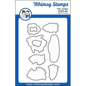 Whimsy Stamps PENGUIN FARTS Dies WSD355