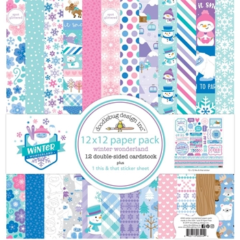 Doodlebug WINTER WONDERLAND 12x12 Inch Paper Pack 6544