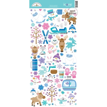 Doodlebug WINTER WONDERLAND ICONS Cardstock Stickers 6560