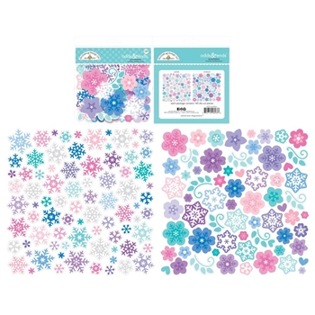 Doodlebug SNOWFLAKES Winter Wonderland Odds and Ends Die Cuts 6533