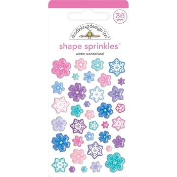 Doodlebug WINTER WONDERLAND Shape Sprinkles 6448