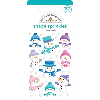Doodlebug SNOW FAMILY Winter Wonderland Shape Sprinkles 6447