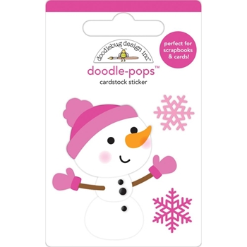 Doodlebug CRYSTAL Doodle Pops 3D Stickers Winter Wonderland 6464