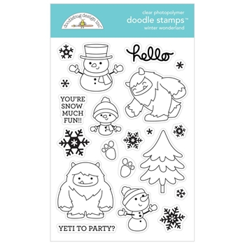 Doodlebug WINTER WONDERLAND Clear Stamps 6481