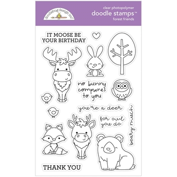 Doodlebug FOREST FRIENDS Clear Stamps 6483