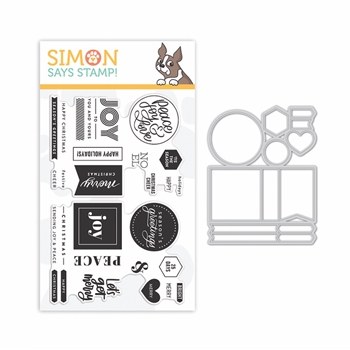 Simon Says Stamps And Dies CHRISTMAS WORD MIX 1 set363cwm