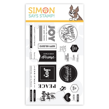 Simon Says Clear Stamps CHRISTMAS WORD MIX 1 sss102081