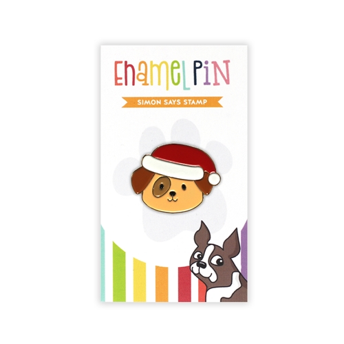 Simon Says Stamp SANTA PUP Enamel Pin EP1040 Diecember Preview Image
