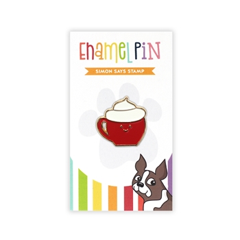 Simon Says Stamp MOCHA Enamel Pin EP1043 Diecember