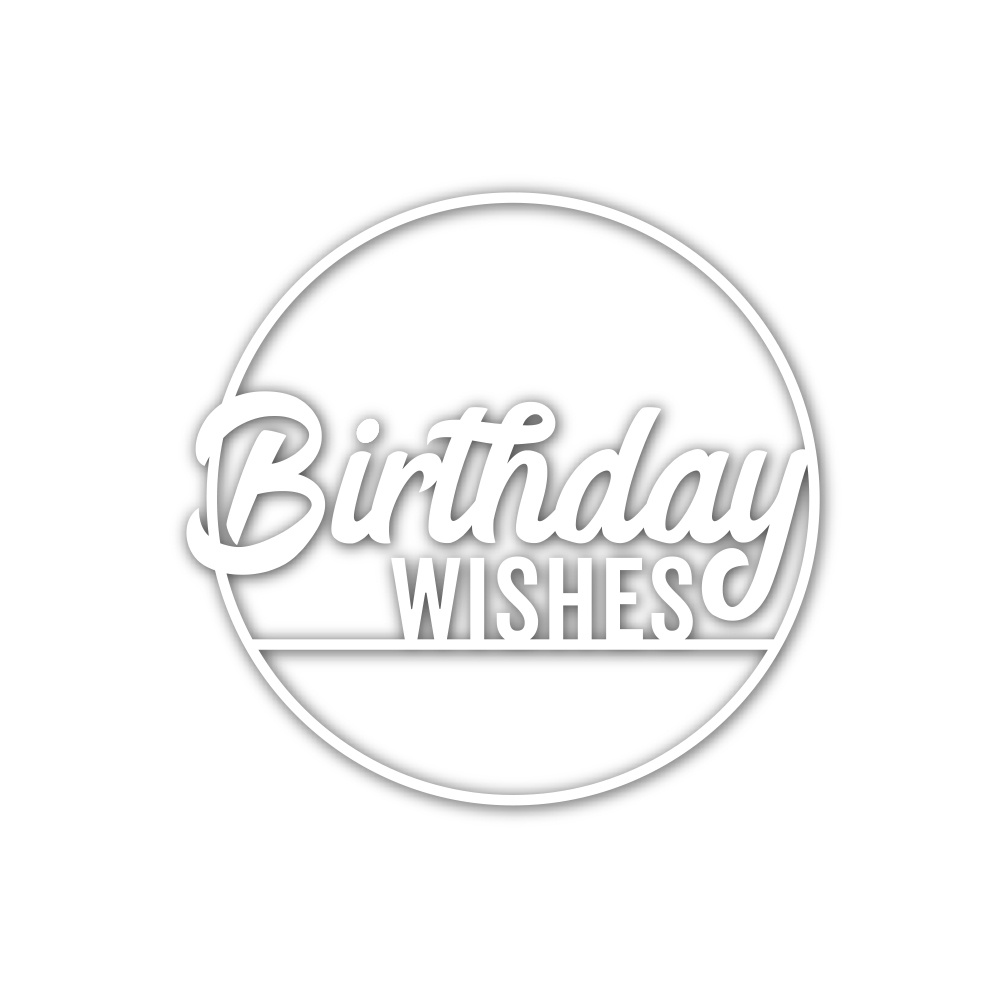 Simon Says Stamp BIRTHDAY WISHES CIRCLE Wafer Die sssd112098 zoom image