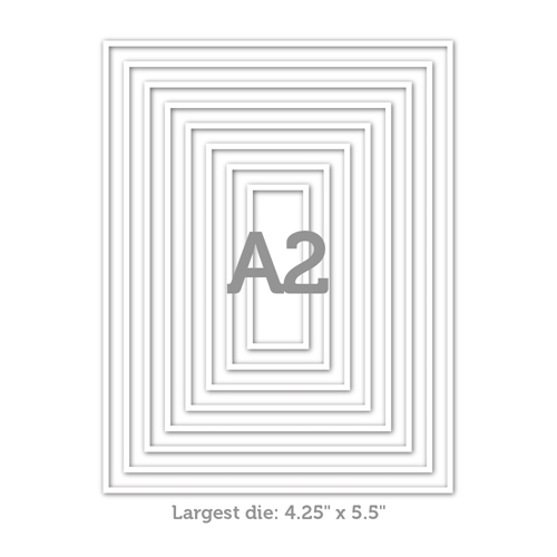 RESERVE Simon Says Stamp A2 THIN FRAMES Wafer Dies sssd112065 Diecember Preview Image