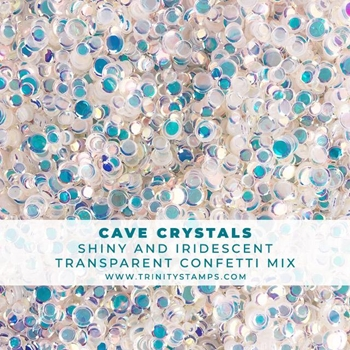Trinity Stamps CAVE CRYSTALS CONFETTI MIX Embellishment Box esb-029