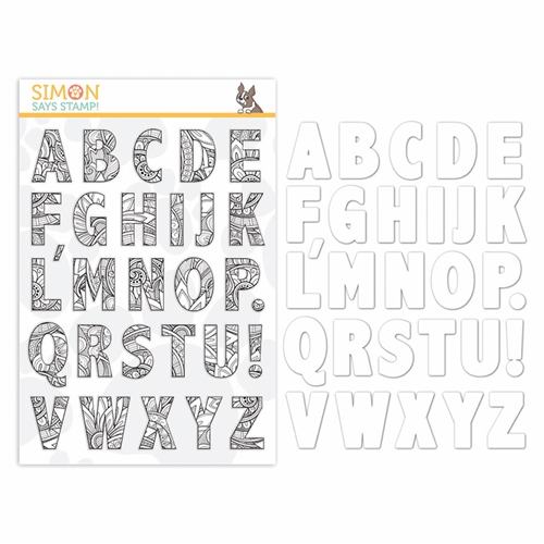 Simon Says Stamps And Dies ORNATE ALPHABET set359oa Diecember Preview Image