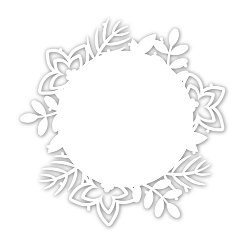 Simon Says Stamp WINTER FOLIAGE FRAME Wafer Die sssd112071 Diecember Preview Image