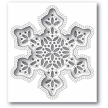 Simon Says Stamp SHIMMER SNOWFLAKE Wafer Die s684 Diecember