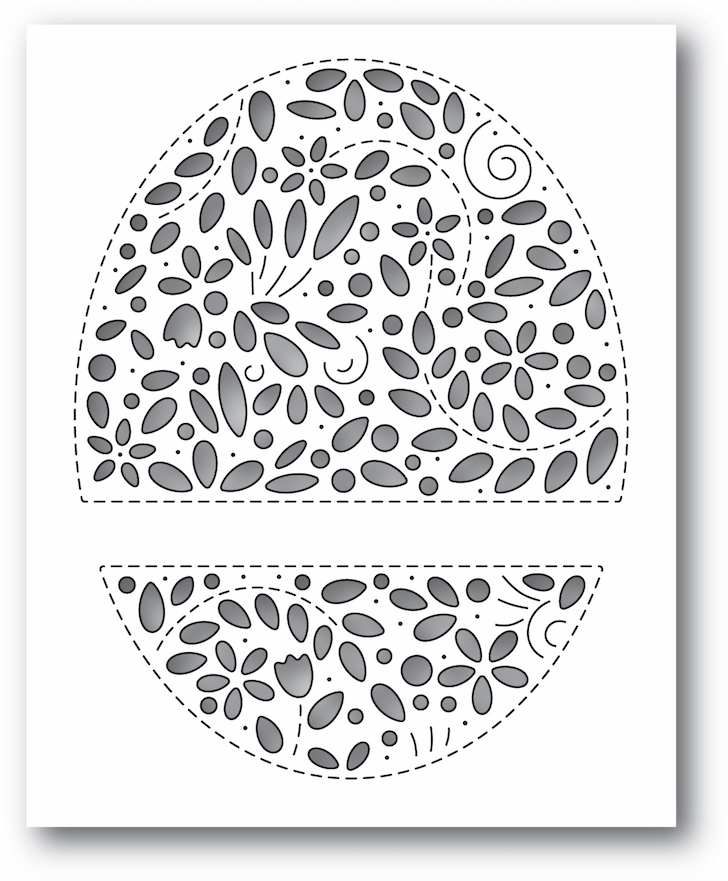 Simon Says Stamp FILIGREE MESSAGE OVAL Wafer Die s680 Diecember zoom image