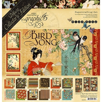 Graphic 45 BIRD SONG 12 x 12 Deluxe Collector's Edition 4501976