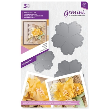 Crafter's Companion PEONY Gemini Elements Flower Forming Foam Die gem-md-ele-peo