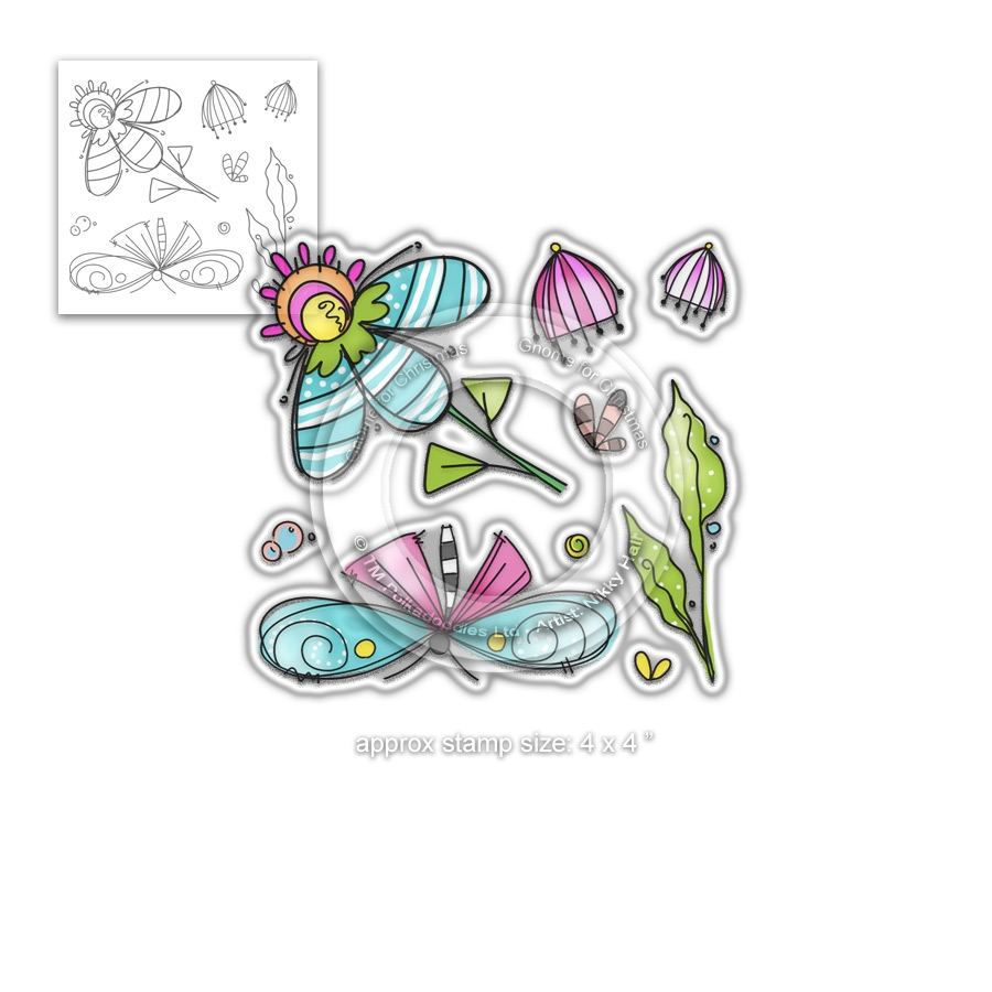 Polkadoodles FLY WITH ME Clear Stamps pd7998 zoom image
