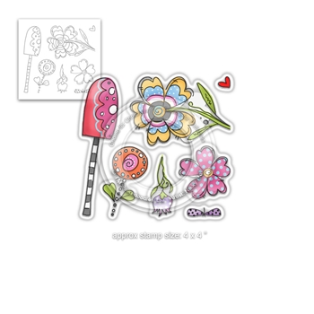 Polkadoodles WILD GARDEN Clear Stamps pd8003