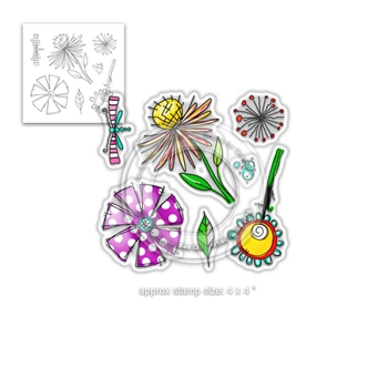 Polkadoodles ADORABLE FLORABLE Clear Stamps pd8001