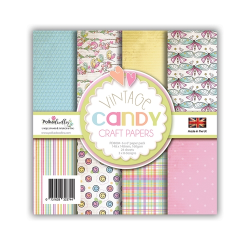 Polkadoodles VINTAGE CANDY 6x6 Paper pd8004 Preview Image
