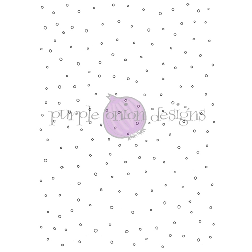 Purple Onion Designs LET IT SNOW BACKGROUND Cling Stamp pod3001* Preview Image